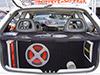 subwoofer Extreme, amplificador Aquarius na lateral, tamp�o personalizado com janelas em acr�lico