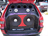 Palio weekend com woofers de 15 pol, 4 cornetas e 4 super tweeters